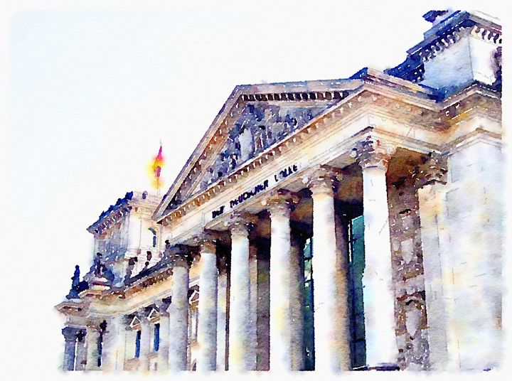 Reichstag - Merlin Watercolors