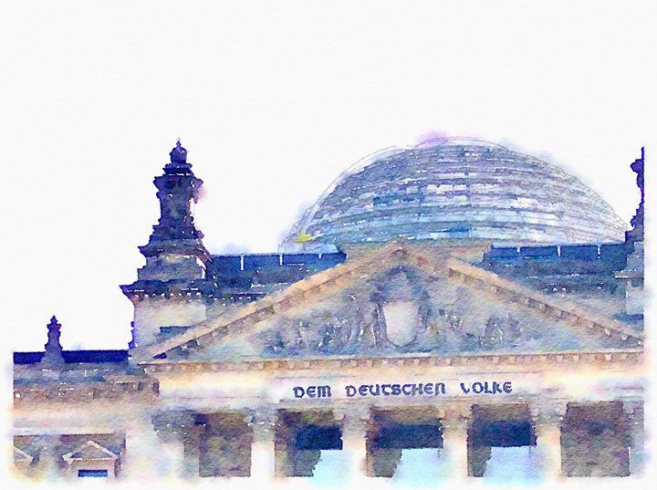 Reichstag - Merlin Watercolors