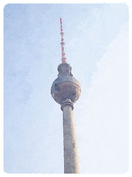 Fernsehturm Berlin - Merlin Watercolors