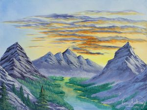 Sunset Mountain Range