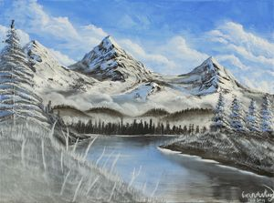 Winter Mountain Range