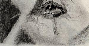A man's tears