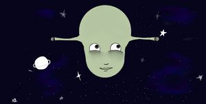 Alien art work