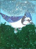 Canvas bird painting