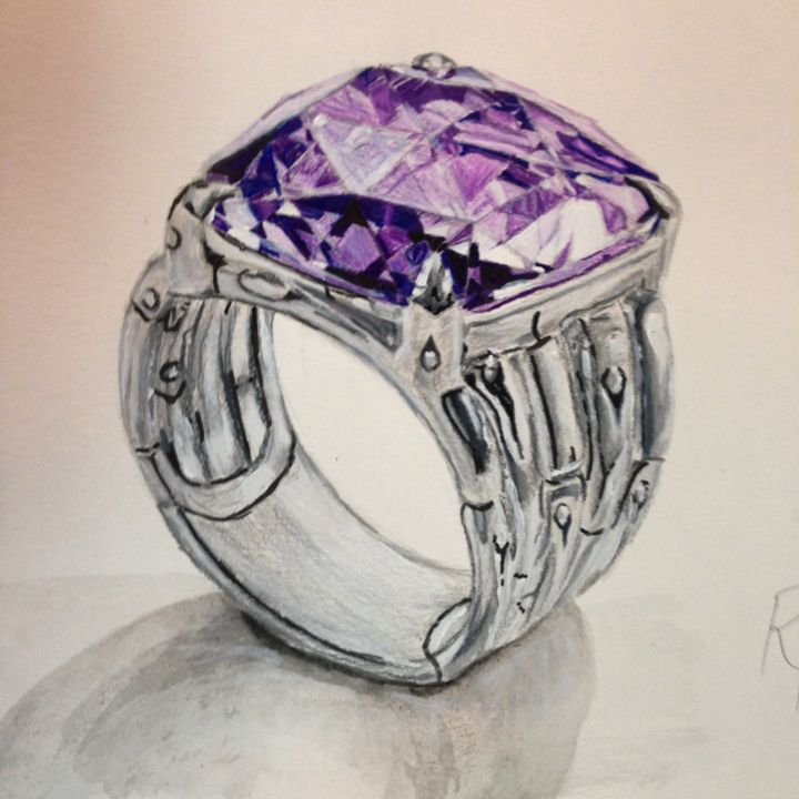 Amethyst Ring - The Autistic Artist