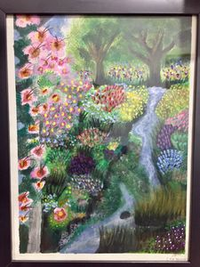 A painting of a garden