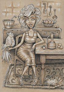 lady cartoon 2 - reza.m.jozani.art