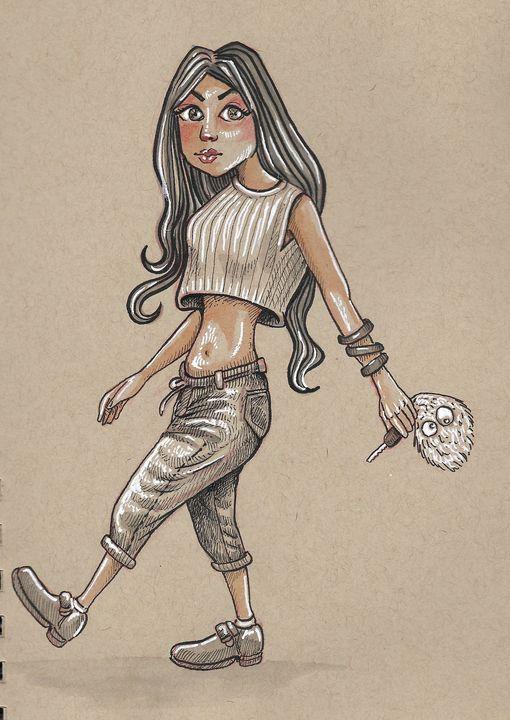 girl cartoon - reza.m.jozani.art
