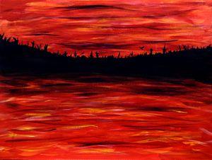 peninsula ablaze