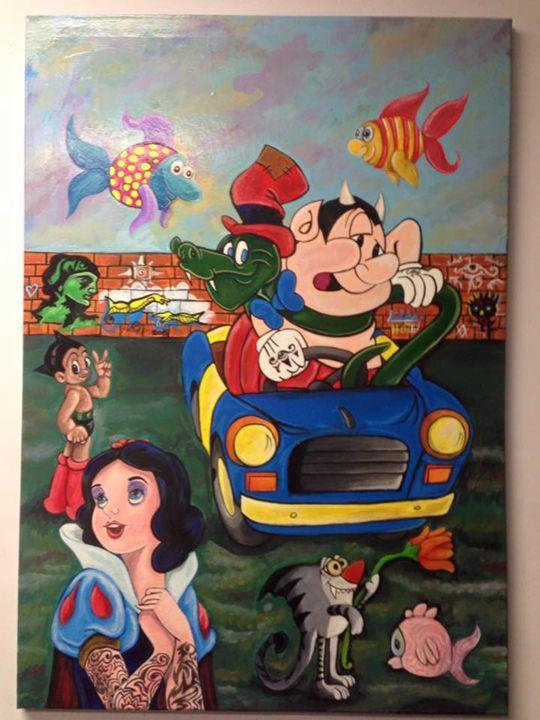 Untitled - Pop Surrealism by Antonio Vitale