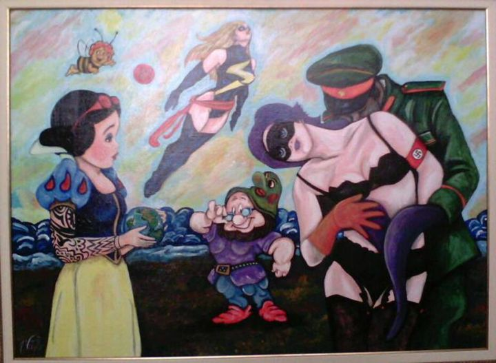 Embrace - Pop Surrealism by Antonio Vitale