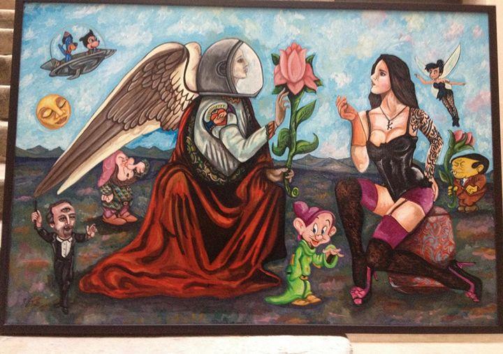 Between Mind and Heart - Pop Surrealism by Antonio Vitale