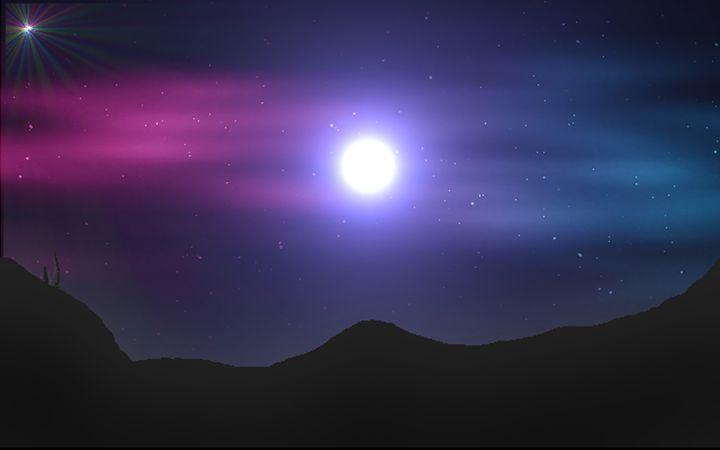 Desert at midnight - Peksiak
