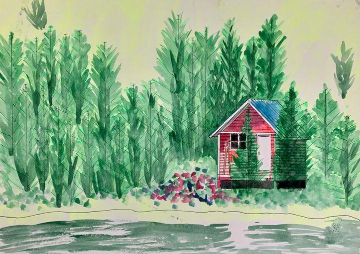 Cabin by Wiener Lake - Artworks by BIL