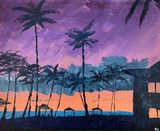 Hawaiian resort sunset