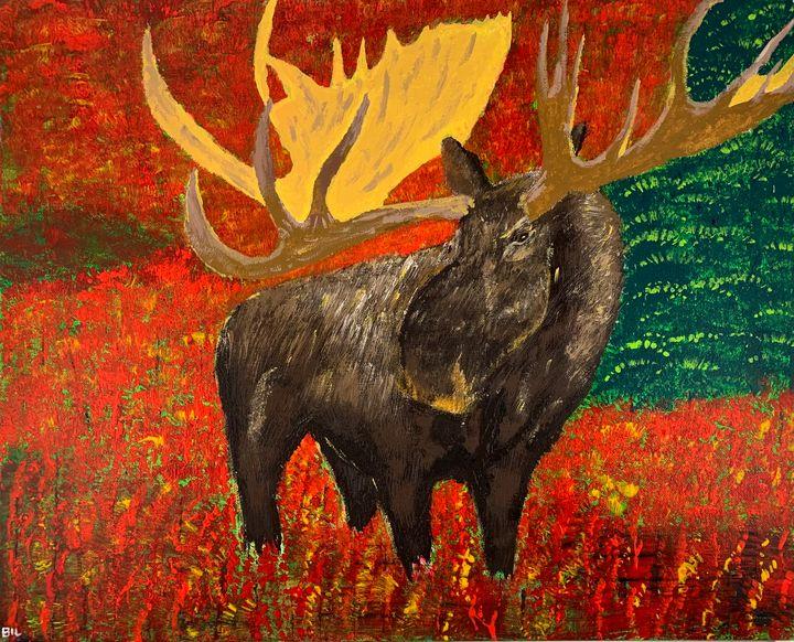 Alaskan Moose - Artworks by BIL