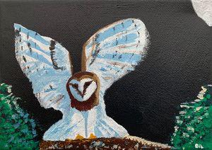 January Birthday Owl