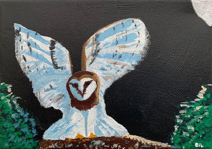 January Birthday Owl - Artworks by BIL