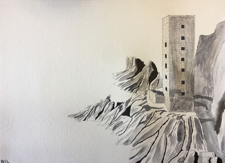 Strong Tower B&W - Artworks by BIL