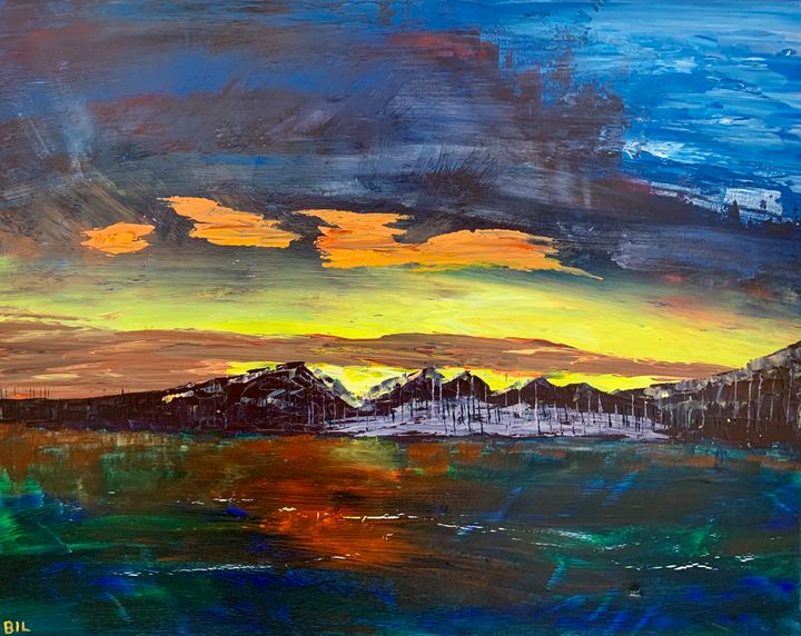 Rocky Mountain Sunset - Artworks by BIL