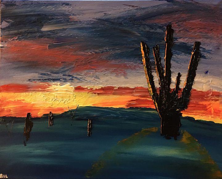 Desert Sunset - Artworks by BIL