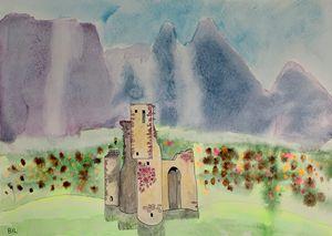 Scottish castle in Italy