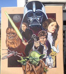 Star Wars mobile mural