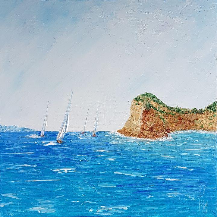 Sailing boats by the Gallinara West - Ruggero Ruggieri