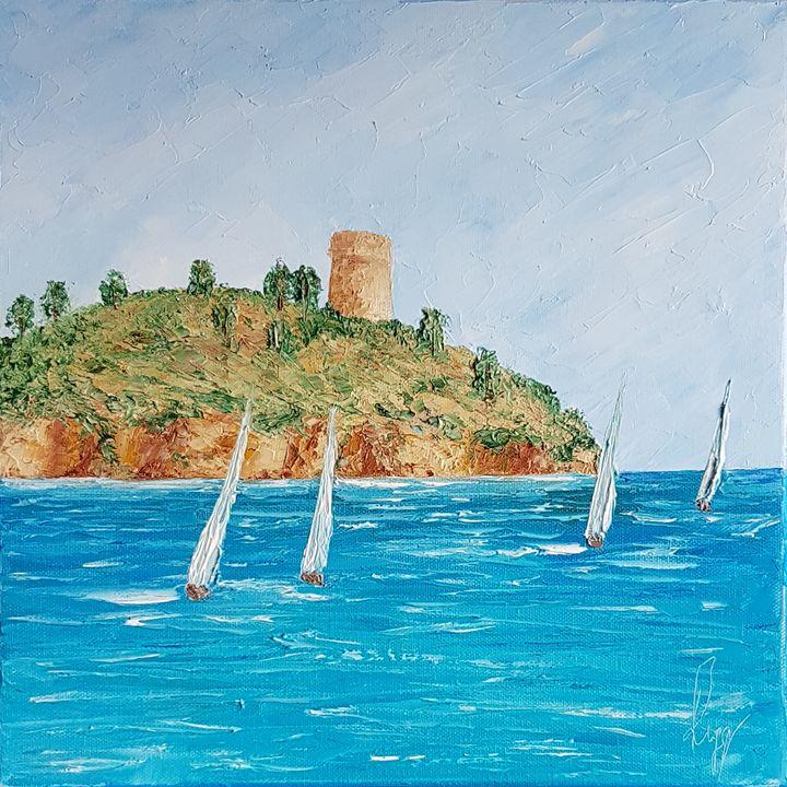 Sailing boats by the Gallinara East - Ruggero Ruggieri