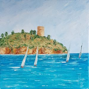 Sailing boats by the Gallinara East