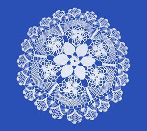 Embroidered Round by Womens handicra - albo gallery