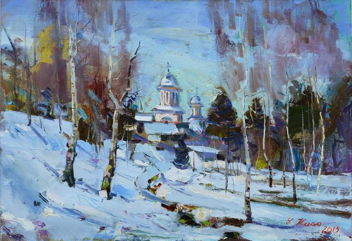 Snow In The Park Of Korca by S.Kasa - albo gallery