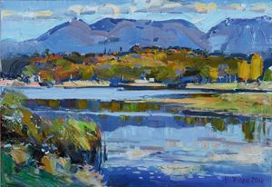 Autumn at the lake ofTirana
