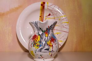 tognana dish and wine holder - albo gallery