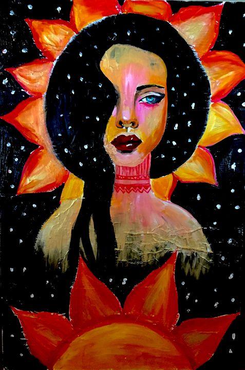 Sunflower girl - Arden Kreuzer Fine Art