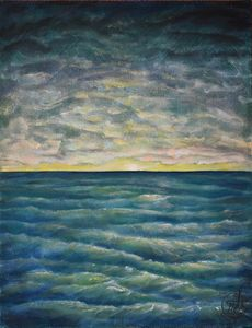 "Oil Painting - Open Sea 14"" x 18"""