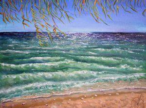 "Oil Painting - Mediterranean 14""x11"""