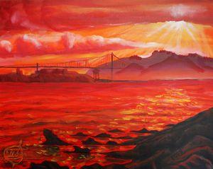 "Oil - Alcatraz 14""x18"""