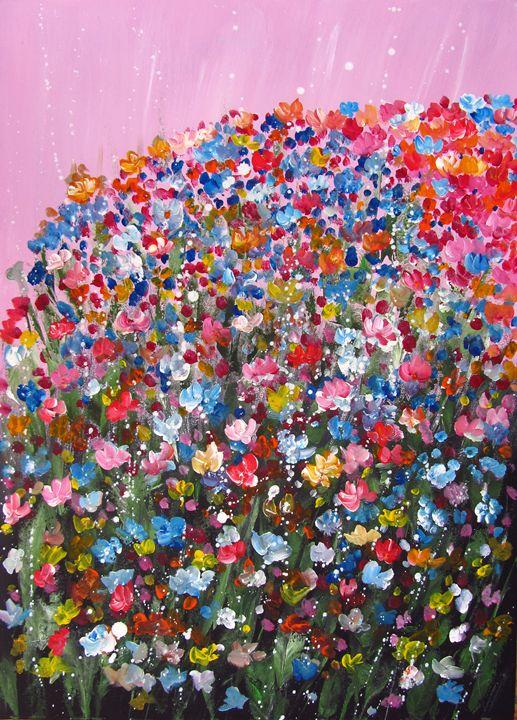 Pink flowers - Artlu