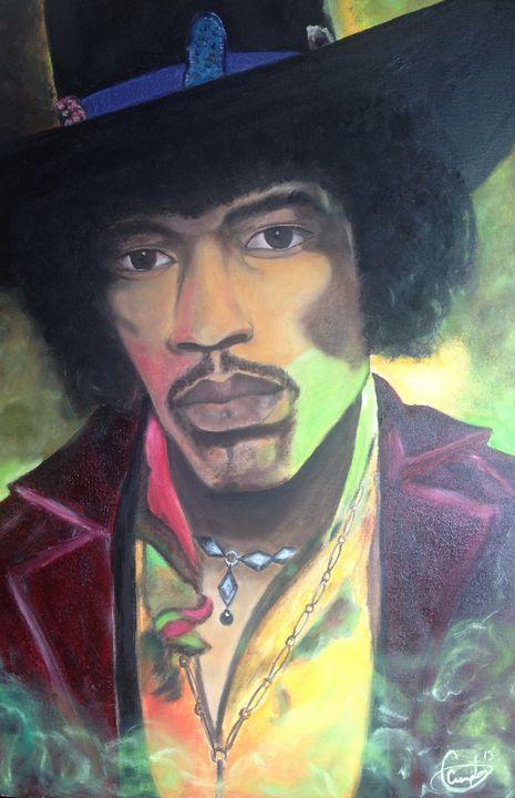 Jimmy Hendrix - Ugotafriendpaintings