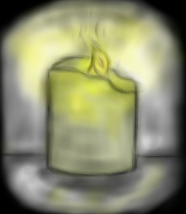 Bright Candle - My Digital Art