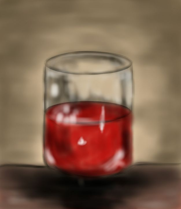 Wine Glass - My Digital Art