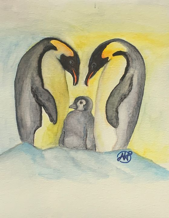 Penguin Family - Angie Worlton