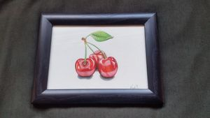 Cherries  (hyper-realism)