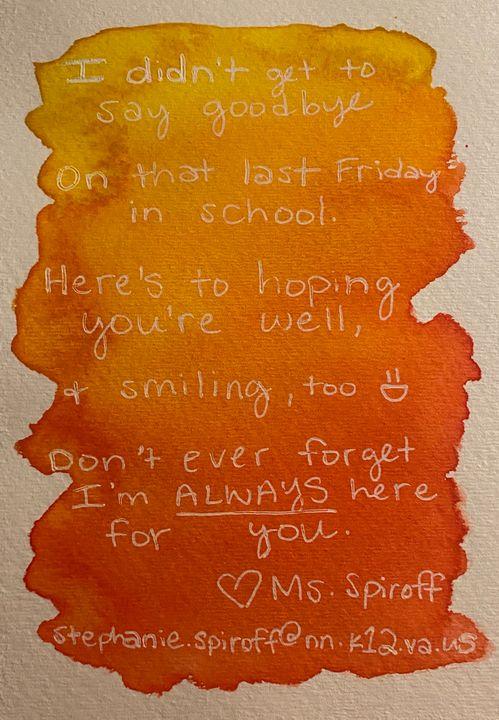 goodbye poem - orange - stephspiroff