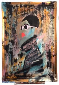Painting N° 1  serie Fashion Victim