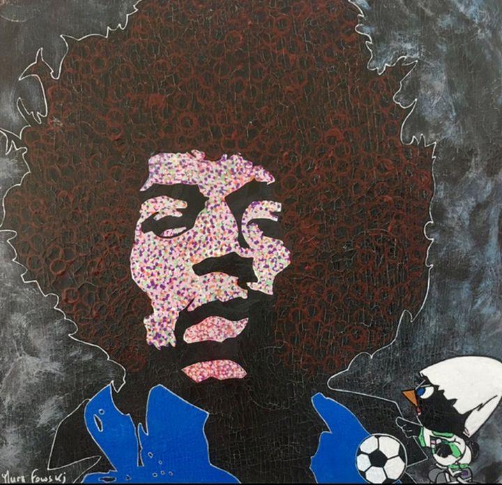 Original reproduction Jimy Hendrix - Mura Fowski