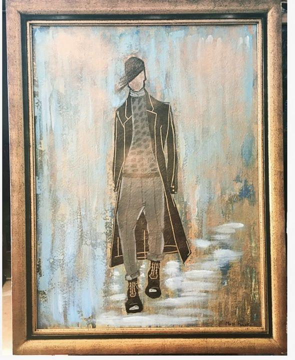 Painting N°3  Série Fashion Victim - Mura Fowski