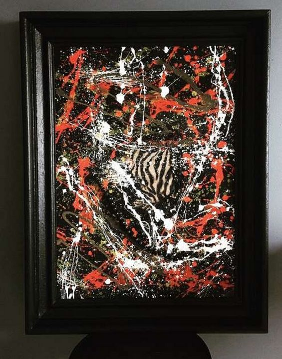 Abstract painting Micro deletion - Mura Fowski