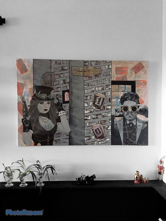 """""""Duel"""" Painting by Mura Fowski - Mura Fowski"""